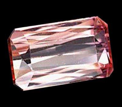 9A: 2.05ct Octagon Natural Orange Pink Tourmaline