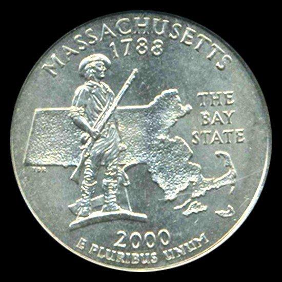 4: 2000D Massachusetts 25c ICG Sample Looks MS65+
