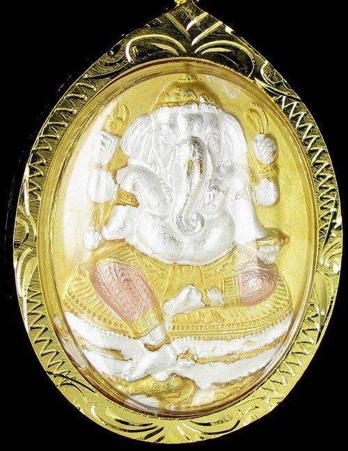 16: Gold Vermeil Ganesh Amulet