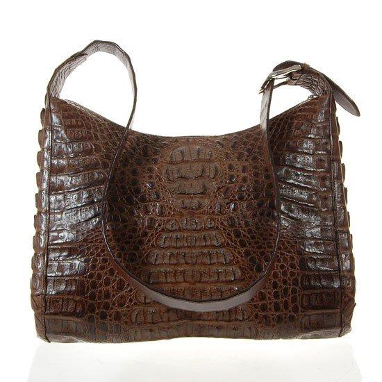 990: Ladies Dark Brown Crocodile Handbag