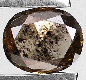 4A: .19ct Round Cut Unheated Fancy Chocolate Diamond