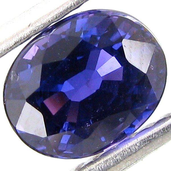 7A: 1.07ct Color Change Purple Unheated Sapphire