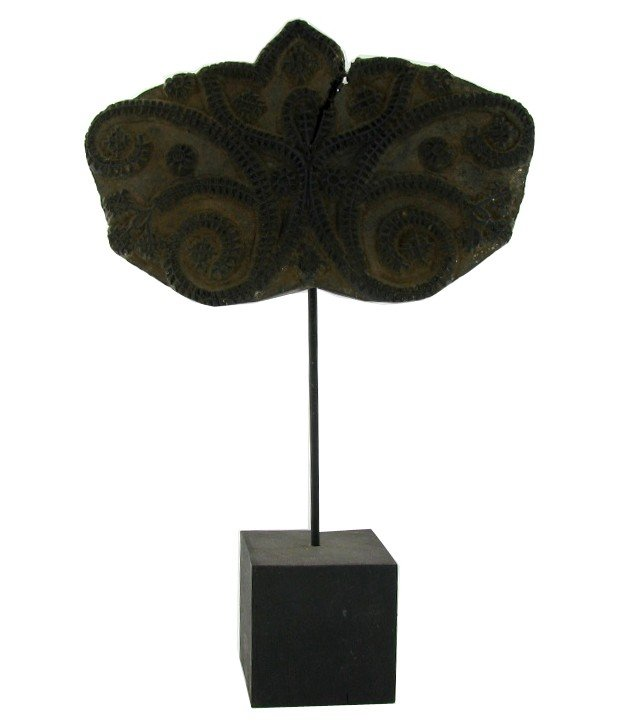 11A: Antique Afghan Printing Block on Stand