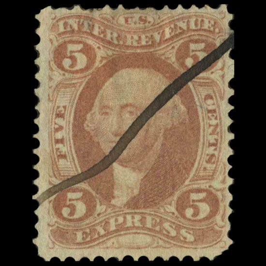4: 1862 US 5c Express Revenue Stamp NICE