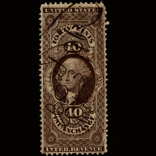 1A: 1860s US Revenue Stamp 40c Inland Exch.