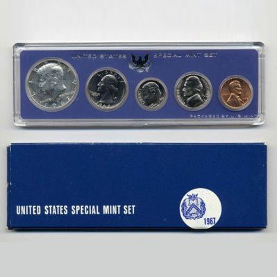 5: 1967 US Coin Special Mint Set GEM Potential
