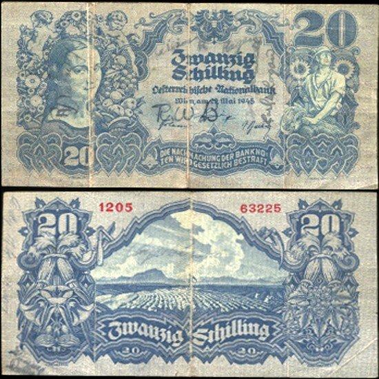 1A: 1945 Austria 20 Schilling Better Grade