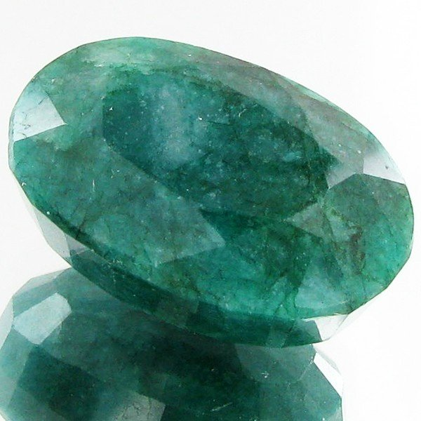 2: 36.43ct Green S. Amer Emerald Oval Appr Est $3k