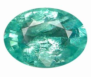 12A: 2.93ct Oval Cut Blue Green Natural Apatite
