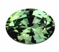 1: 4mm Rare Top Green Sapphire Oval