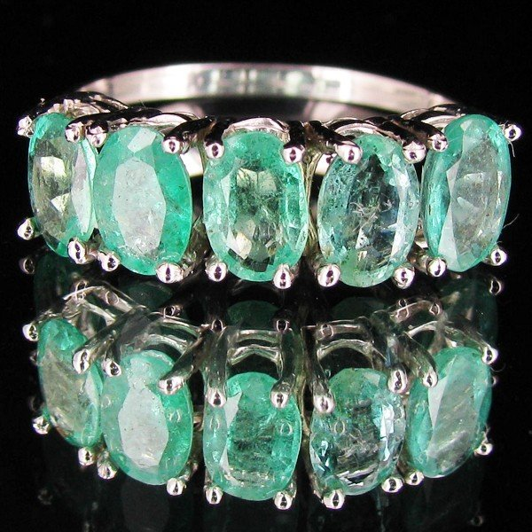 1098: 9.15ctw Colombian Emerald 10k Gold Ring