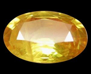 9A: 1.32ct Oval Golden Yellow Sapphire