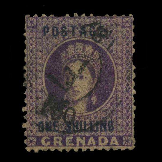 10: 1875 Grenada 1s Postage Stamp Scarce Premium