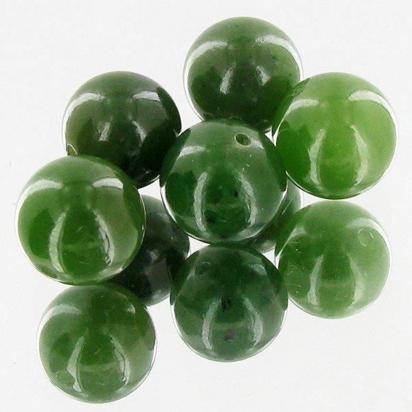 14: 21.56ct Jade Round Beads Parcel