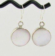 20: Sterling Mother of Pearl Earrings