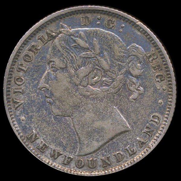 1134: 1882H Canada Newfoundland 20c XF/AU