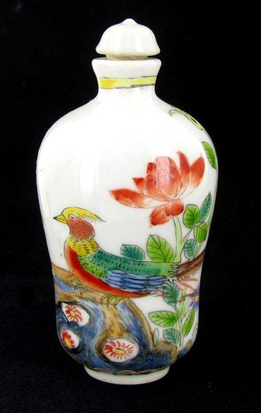 6A: Antique Chinese Cloisonne Snuff Bottle