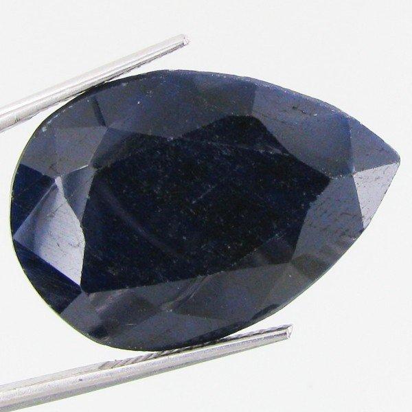 14: 55.8ct Blue African Sapphire Pear Cut