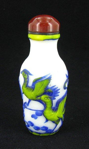20: Antique Chinese Peking Glass Snuff Bottle