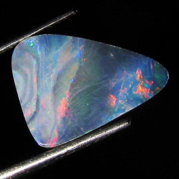 4: 3.05ct Australian Black Opal Doublet Full Fire