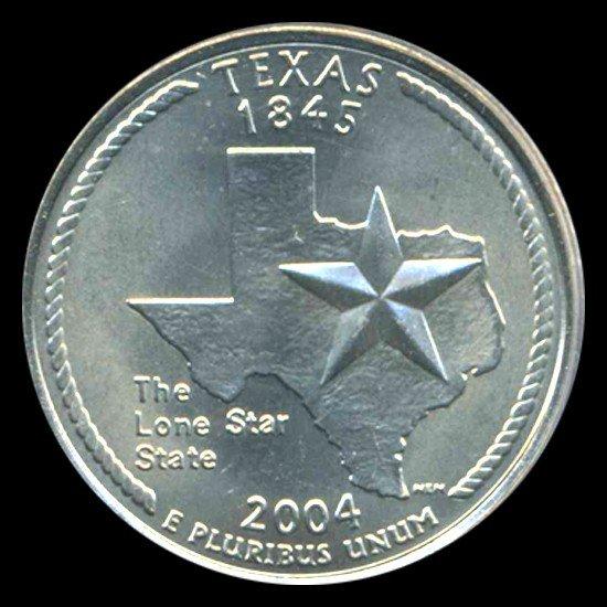 9: 2004P TX Quarter PCGS MS67