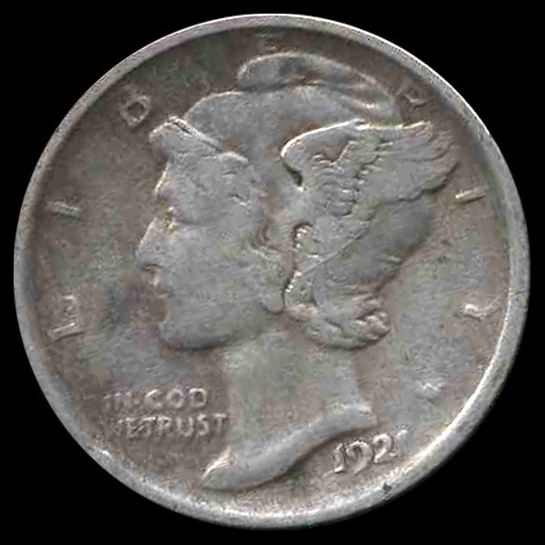 1744: 1921 Mercury Dime Higher Grade ERROR