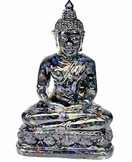 8: 500ct. Buddha Statue Blue Sapphire