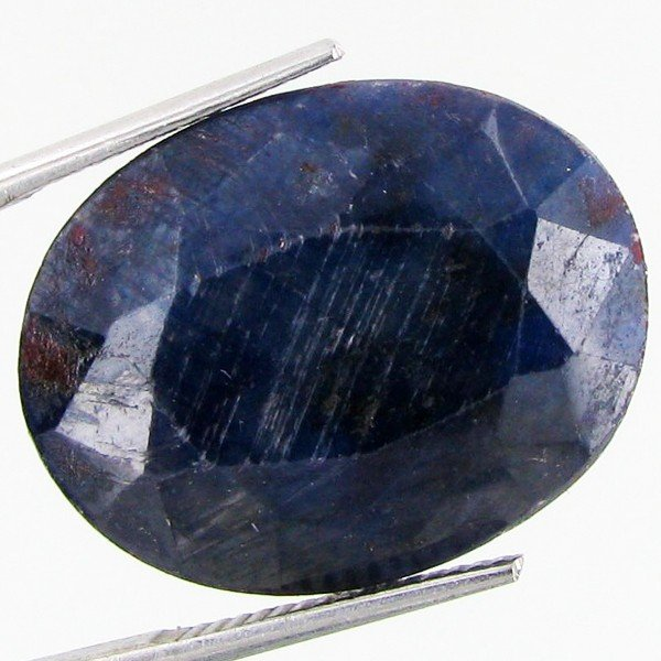 15: 23.74ct Dark Blue African Sapphire Oval Cut