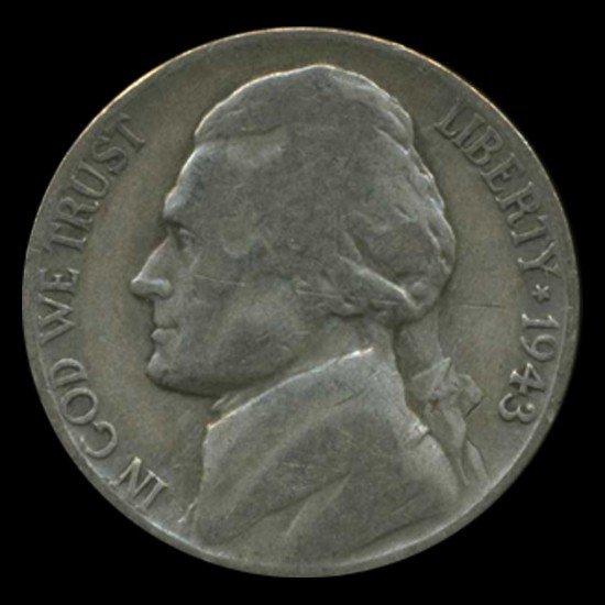1: 1943P/D/S Jefferson Silver WAR Nickel Set