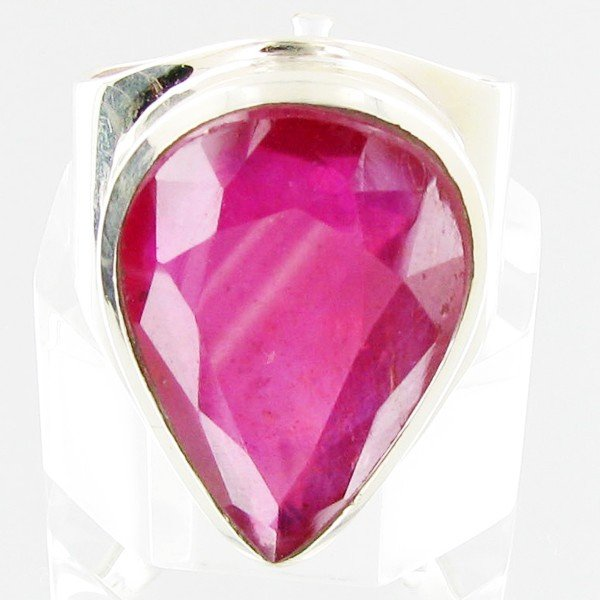 5: 78twc Mozambique Ruby Sterling Ring