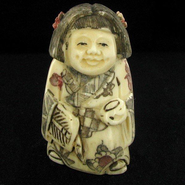 23: Handcarved Bone Chinese Netsuke