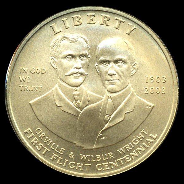 2748A: 2003 US $10 First Flight Gold MS69+ 1/2OZ!