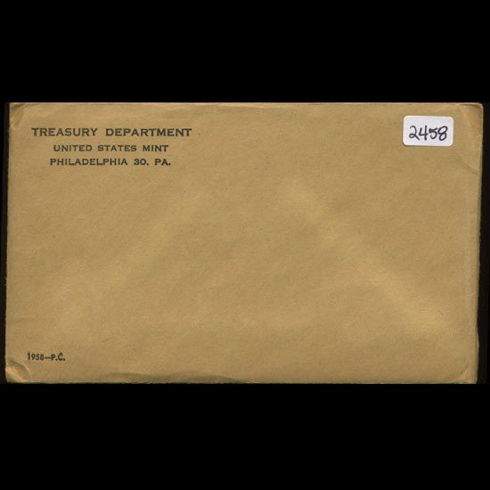 8A: 1958 RARE Unopened Envelope Proof Set