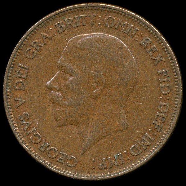 22A: 1928 British Geo V 1p XF