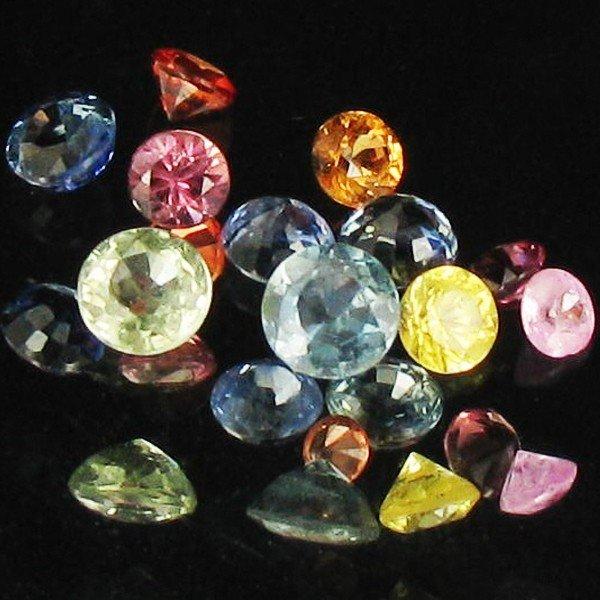 24A: 1.25ct Mixed Color Sapphire Round Cut Parcel