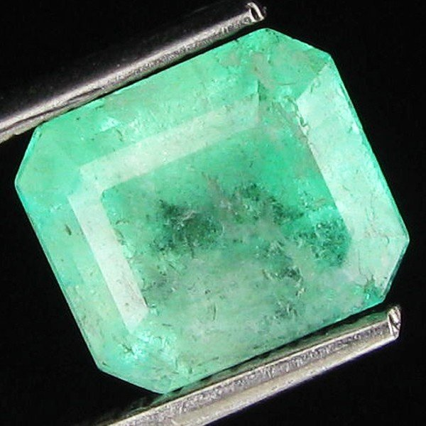 404: 2.46ct Natural Colombian Emerald Cut Mint Green