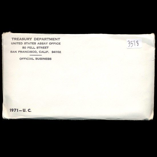 1: 1971 US Mint Coin Set UNOPENED