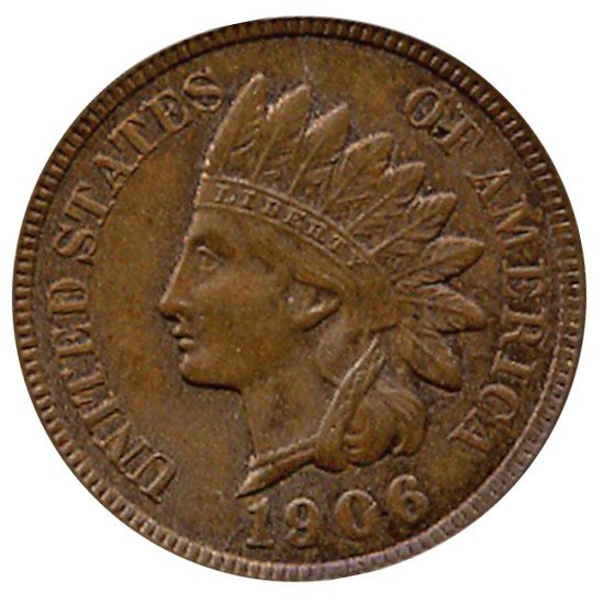 18: 1906 Indian Cent Uncirculated MS65 BN