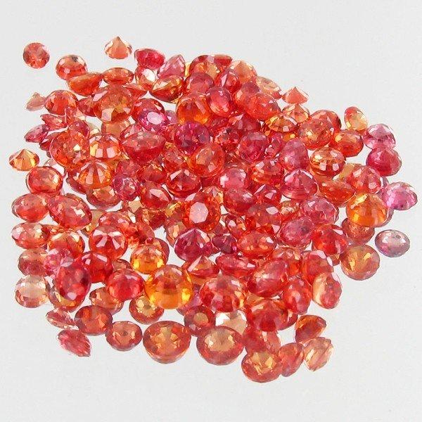 2: 1.08ct Orange Padparascha Sapphire Round Cut Parcel