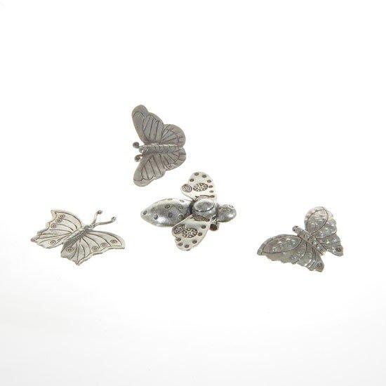 7: Handmade Silver Hilltribe Butterfly Pendants