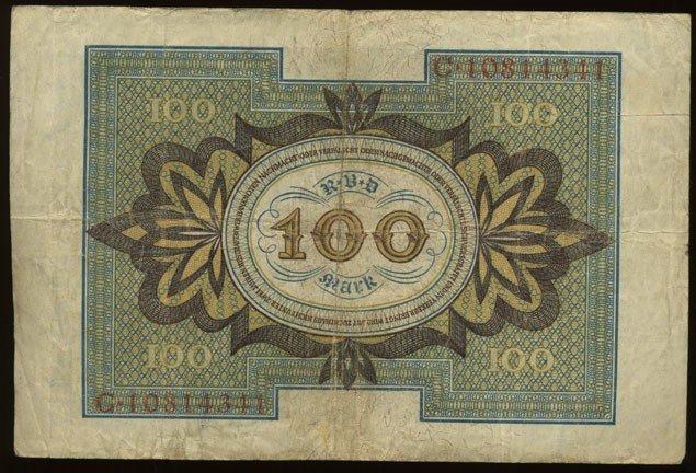 8: 1920 Germany 100 Mark Hi Grade