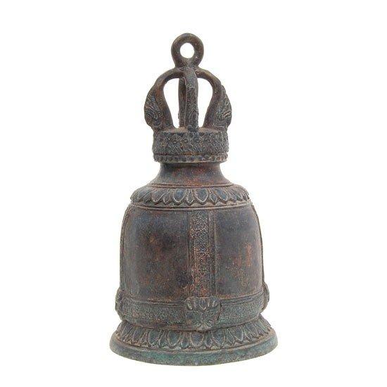 """1322: Vintage Bronze Thai Buddhist Temple Bell 8"""""""