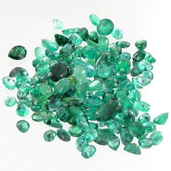 7: 1ct Green Colombian Emerald Oval Cut Parcel