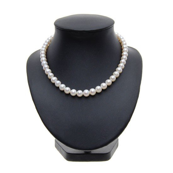 9: Rare White Saltwater Pearl Necklace