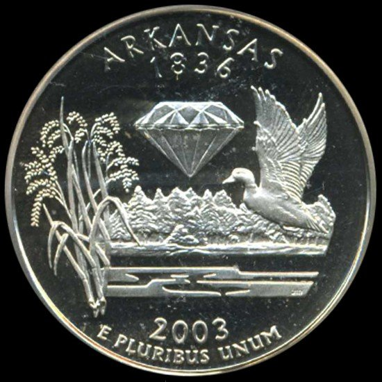 12: 2003S US Arkansas Quarter Graded PR70 DCAM