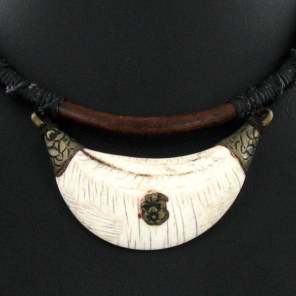 15: Tibet Bone Nickel Bead Choker Necklace