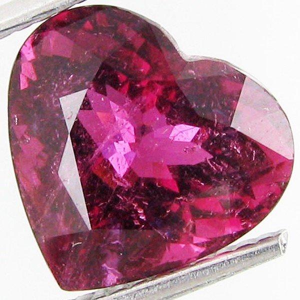 159: 4.38ct Charming Heart Rubellite Tourmaline