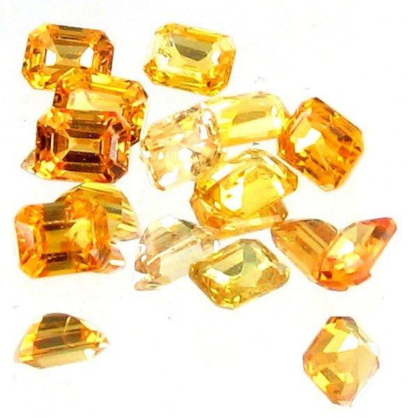 18: 1.35ct Orange Sapphire Emerald Cut Parcel
