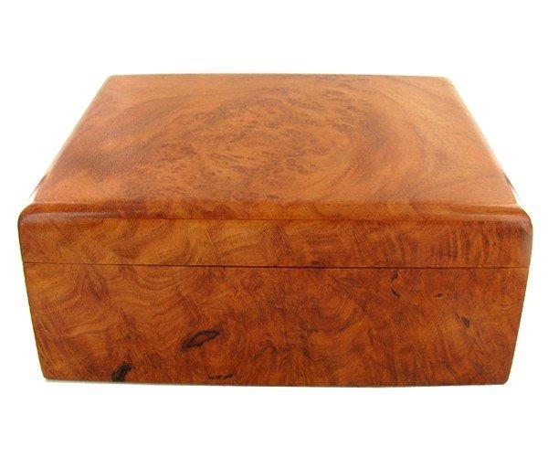 1815: RARE Burl Box Handmade Afzelia Wood