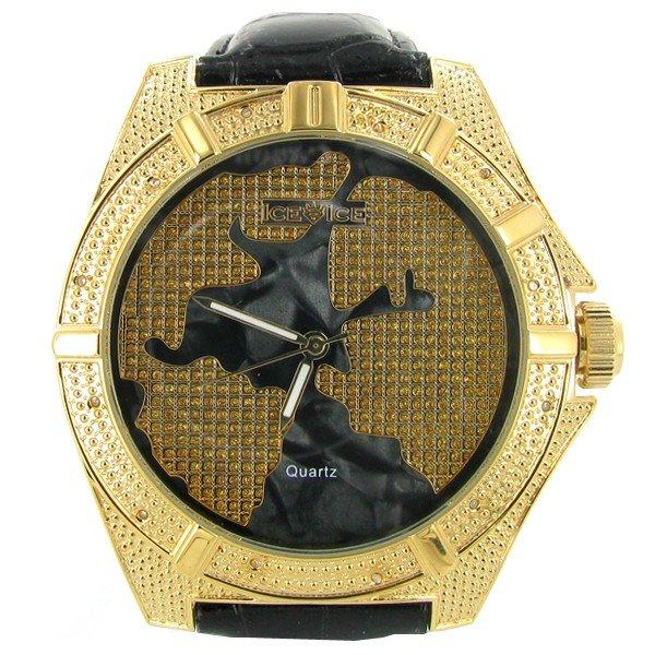 2117: New Ice Time Mens Diamond Bezel Watch